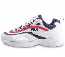 Chaussures Fila Ray blanche bleue et rouge