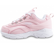 Chaussures Fila Ray rose et blanche enfant