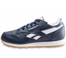 Chaussures Reebok Classic Leather bleu et blanc junior