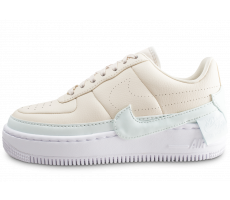 Chaussures Nike Air Force 1 Jester XX beige et bleue femme