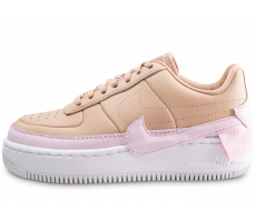 Chaussures Nike Air Force 1 Jester XX beige et rose femme