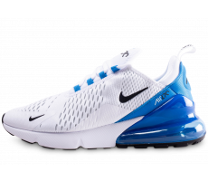 sports shoes bf2eb 99763 Chaussures Nike Air Max 270 blanche et bleue