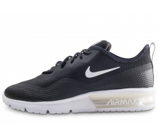 Chaussures Nike Air Max Sequent 4.5 noire et blanche