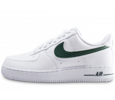 Chaussures Nike Air Force 1 '07 blanche et verte
