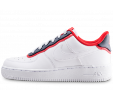 Chaussures Nike Air Force 1'07 LV8 blanche bleue et rouge