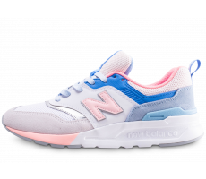 check out 7493d 378a5 Chaussures New Balance 997 rose et bleue femme