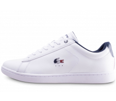 more photos 49c34 9368d Chaussures Lacoste Carnaby Evo blanche et bleue