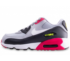 promo code 7ac03 ae2af Chaussures Nike Nike Air Max 90 Mesh grise et rouge enfant