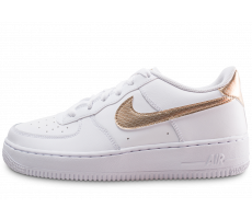 Chaussures Nike Air Force 1 EP blanche et bronze junior