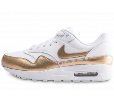 Chaussures Nike Air Max 1 EP blanche et or junior