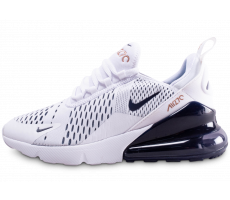 Chaussures Nike Air Max 270 blanc bleu marine junior
