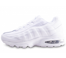 Chaussures Nike Air Max 95 blanche et argent junior