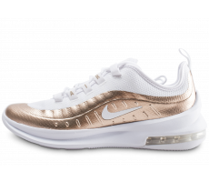 Chaussures Nike Air Max Axis blanche et or junior