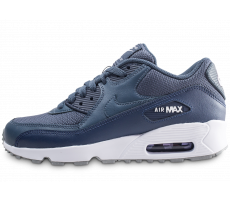 Chaussures Nike Air Max 90 Mesh bleue junior