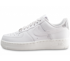 Chaussures Nike Air Force 1 '07 Essential blanche et grise femme
