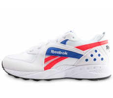 Chaussures Reebok Pyro blanche rouge et bleue femme