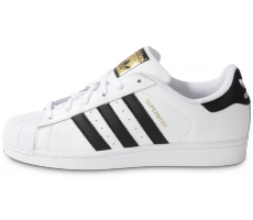 new product 722da f9865 Chaussures adidas Superstar Foundation blanc noir