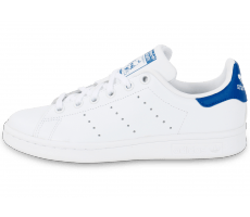 Chaussures adidas Stan Smith Junior blanche et bleue